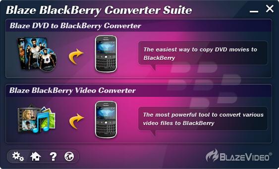 Click to view BlazeVideo BlackBerry Converter Suite screenshots