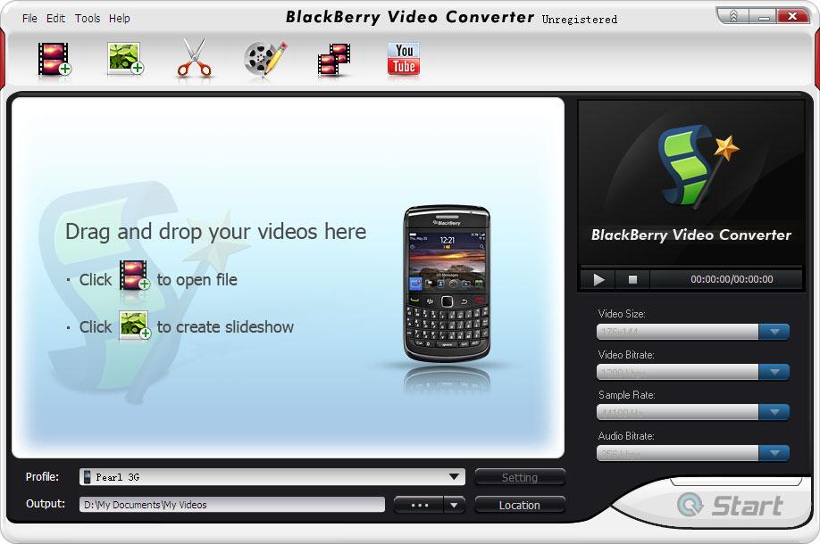 Click to view BlazeVideo BlackBerry Video Converter screenshots