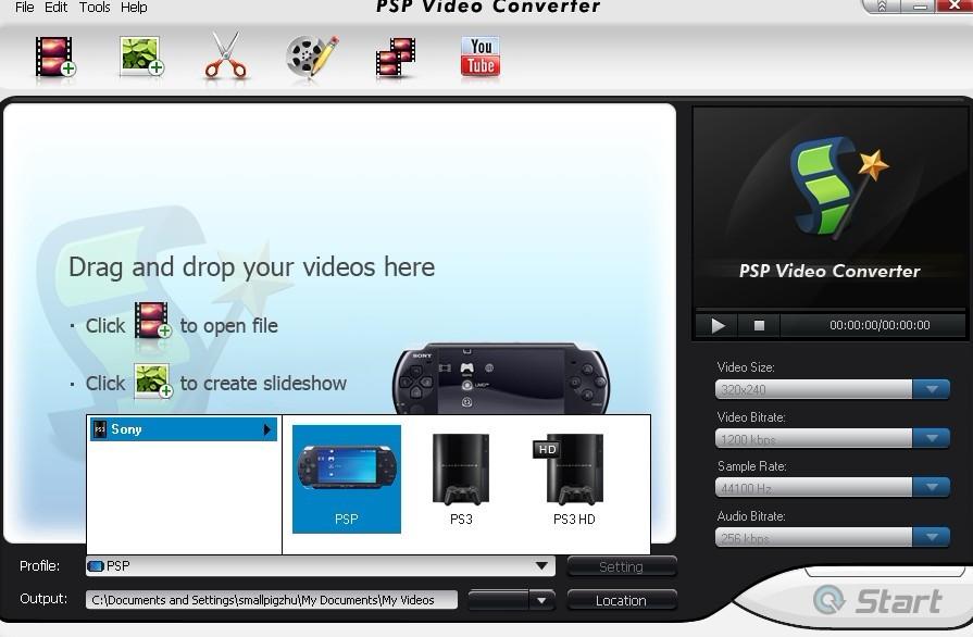 convert videos to psp