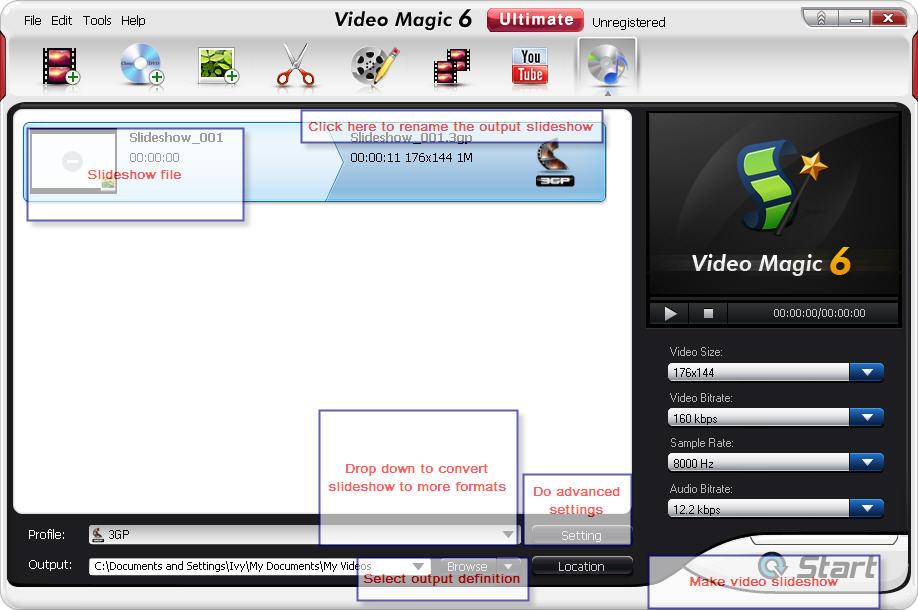 photo to video slideshow
