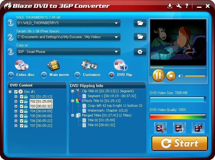 3gp ücretsiz convert dvd