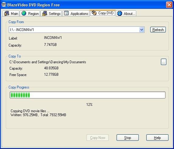 Rip DVD to Hard Drive - BlazeVideo DVD Region Free Help
